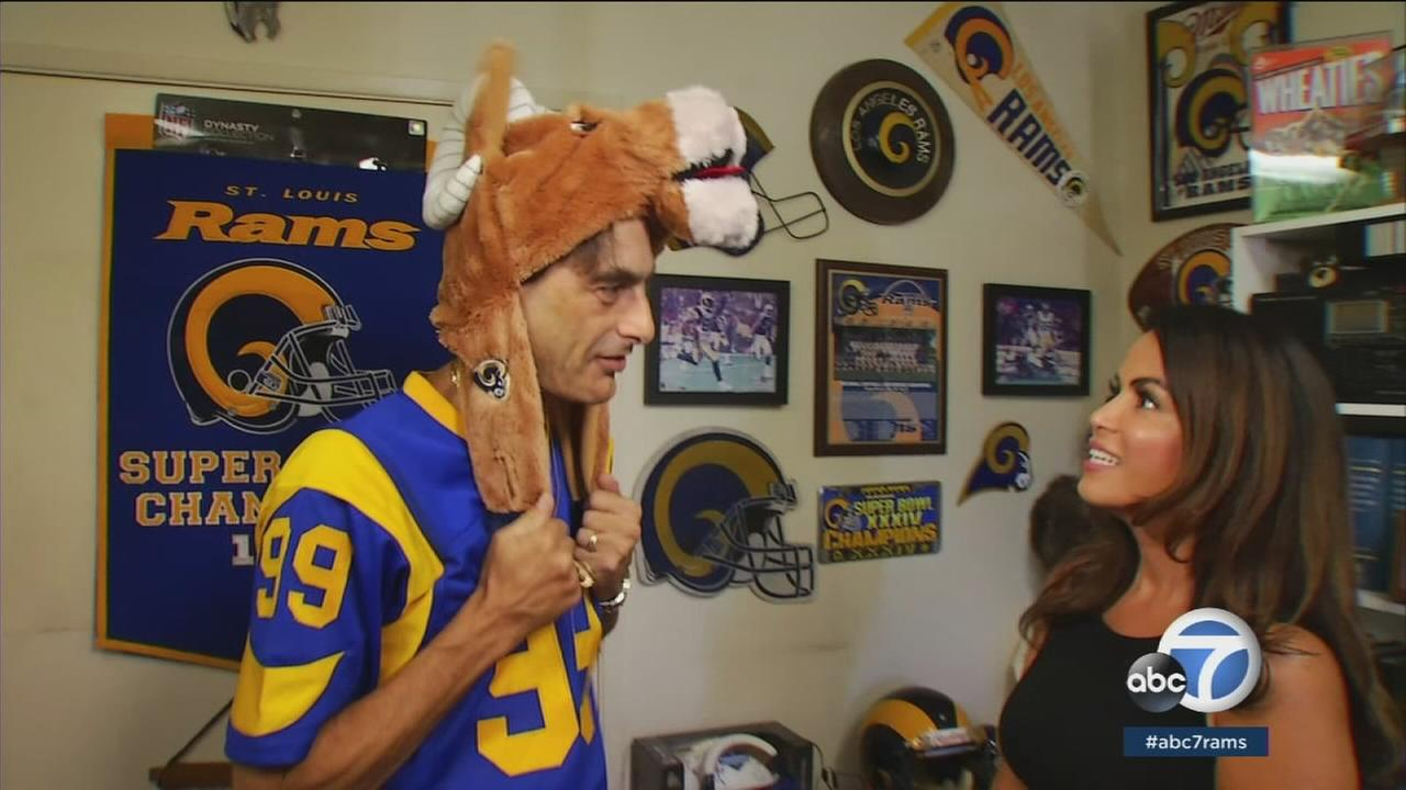Andrew Kulick has been a Rams superfan since at least 1958 when he started going to games with his dad, a jeweler who made watches and rings for the team.