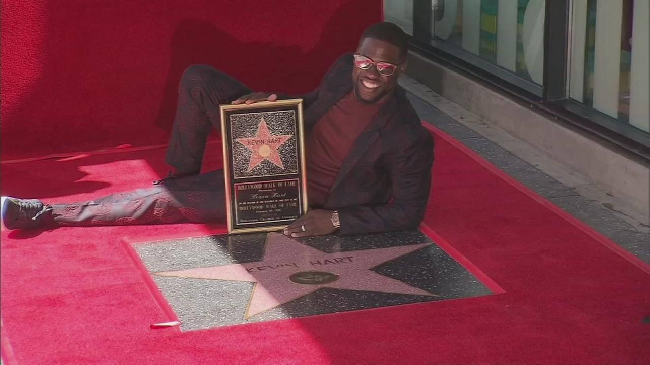 Actor and comedian Kevin Hart was honored with a star on the Hollywood Walk of Fame on Monday, Oct. 10, 2016.