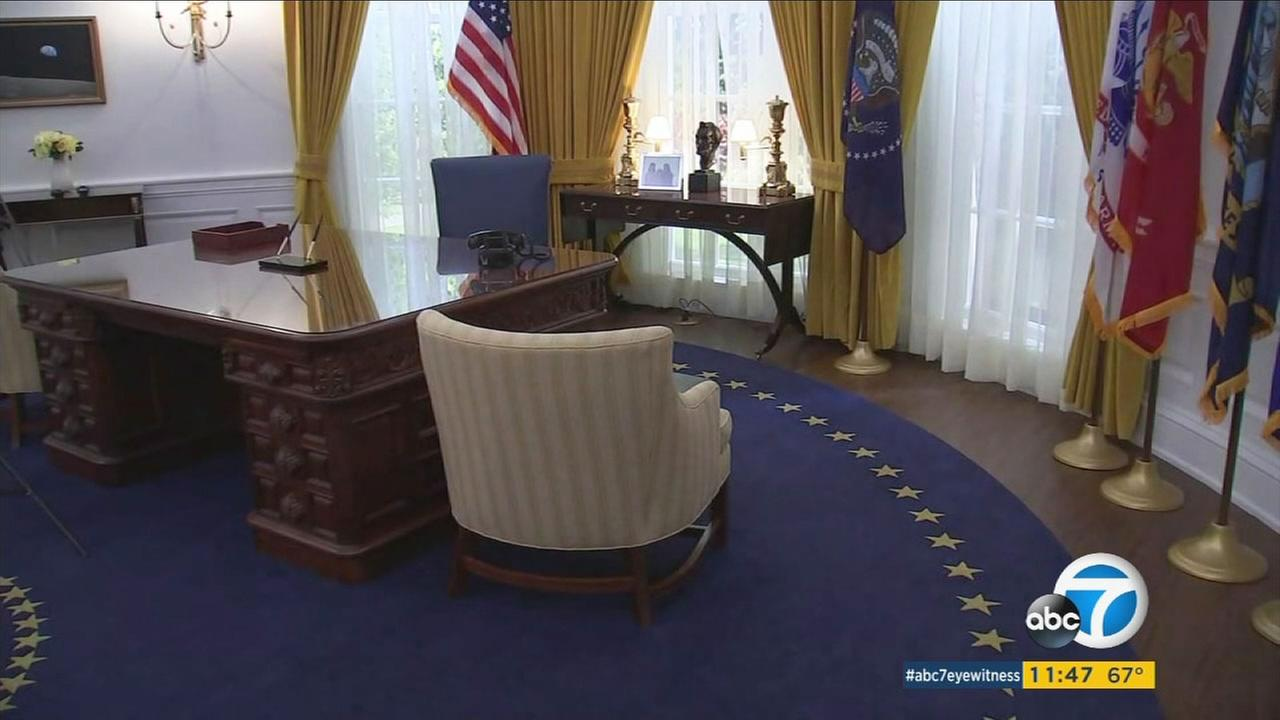 A replica of the Oval Office is seen at the Richard Nixon Presidential Library and Museum in Yorba Linda on Friday, Oct. 14, 2016.