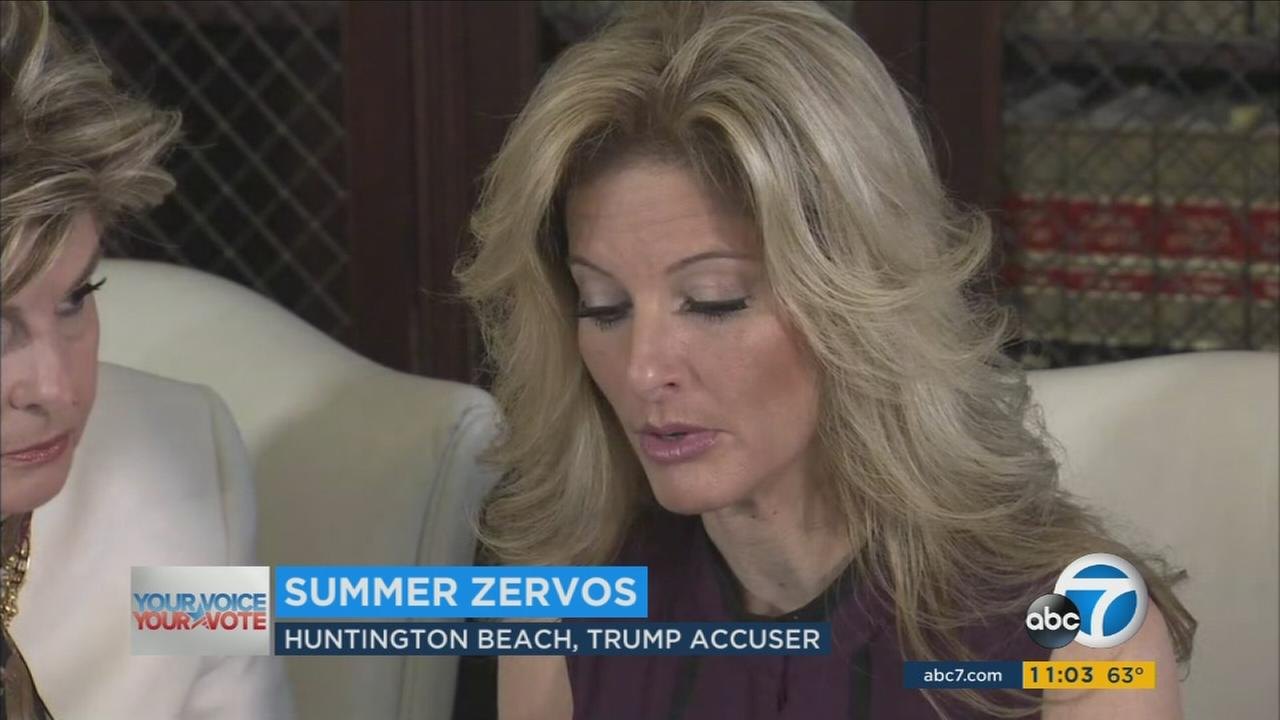 A former contestant on season five of The Apprentice is accusing Donald Trump of making unwanted sexual contact with her at a Beverly Hills hotel in 2007.