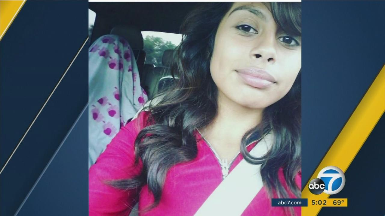 Los Angeles police said 16-year-old Whitney Rivas was struck and killed while she was walking to school in South Los Angeles on Monday, Oct. 17, 2016.