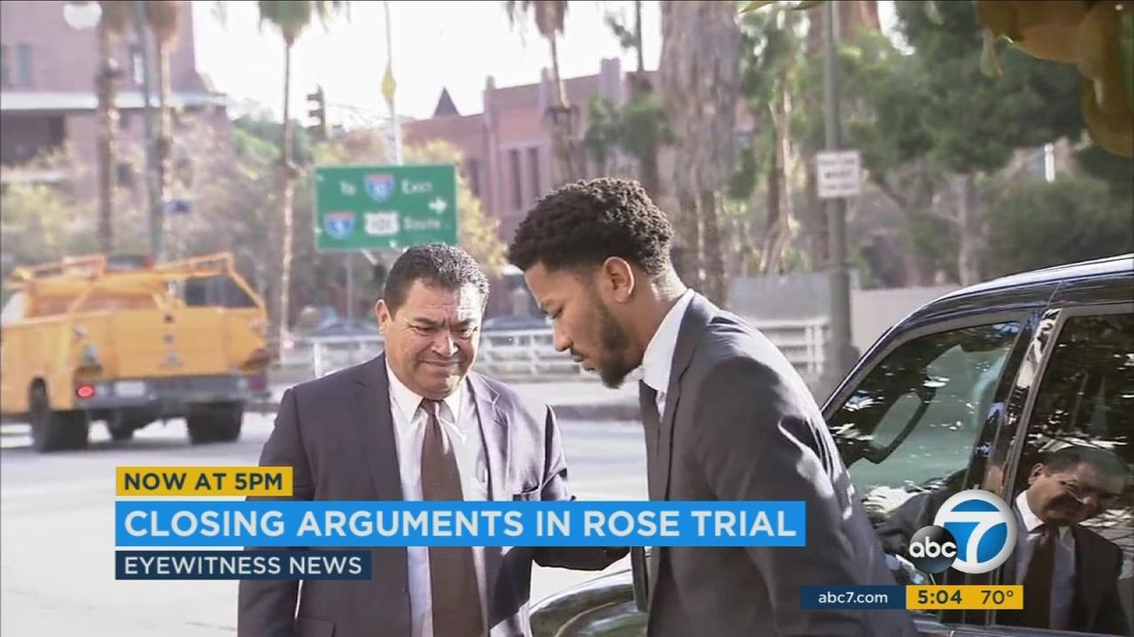 Closing arguments concluded in the lawsuit against Derrick Rose on Tuesday, Oct. 18, 2016.