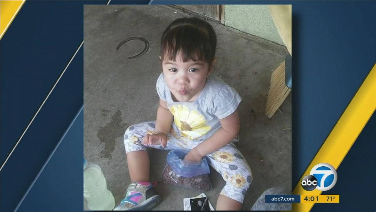 A 2-year-old girl died at a Fontana home Monday night, and authorities arrested the childs mother and grandfather on suspicion of felony child abuse.