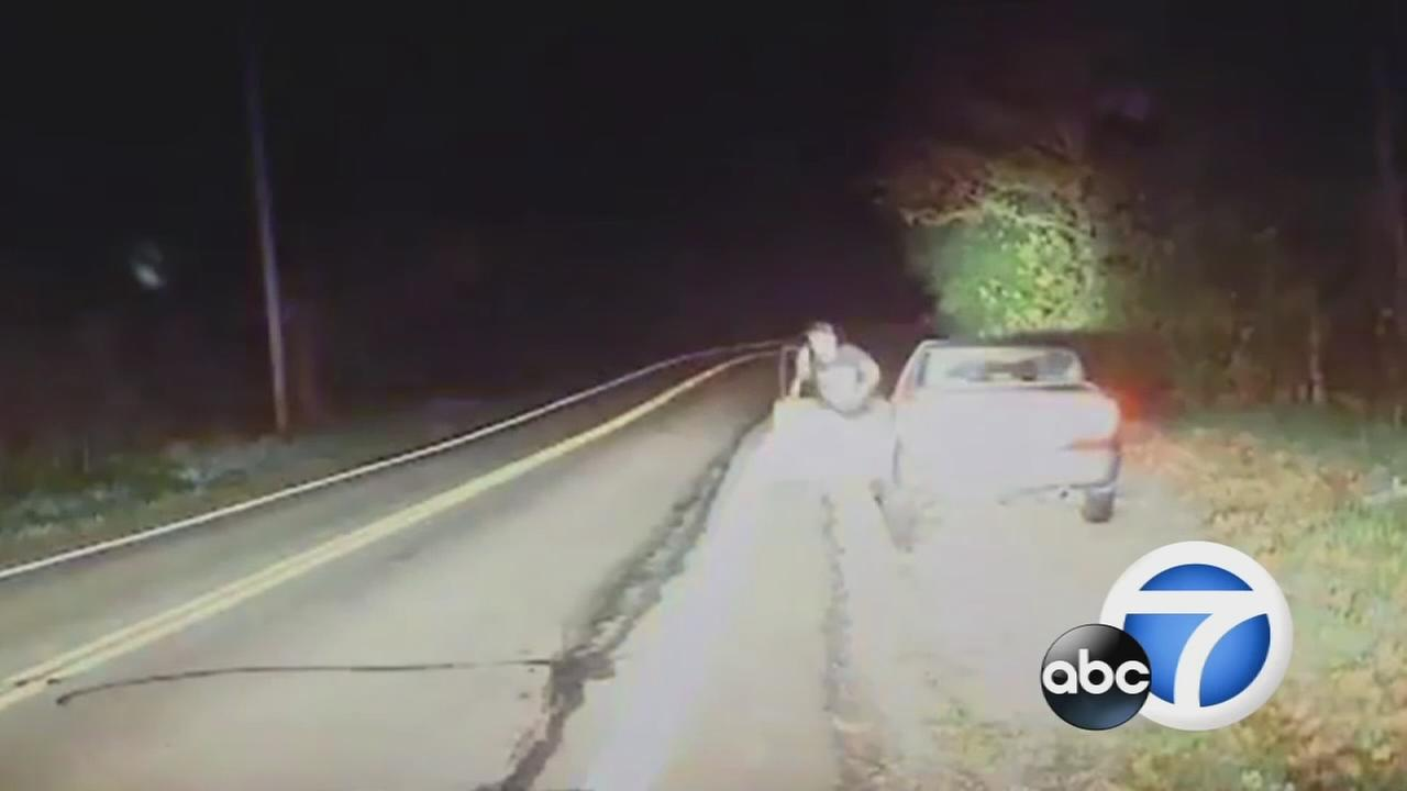 Authorities said 28-year-old Travis Wickline opened fire on a deputy during a high-speed chase in Sidney, Ohio, on Monday, Oct. 24, 2016.