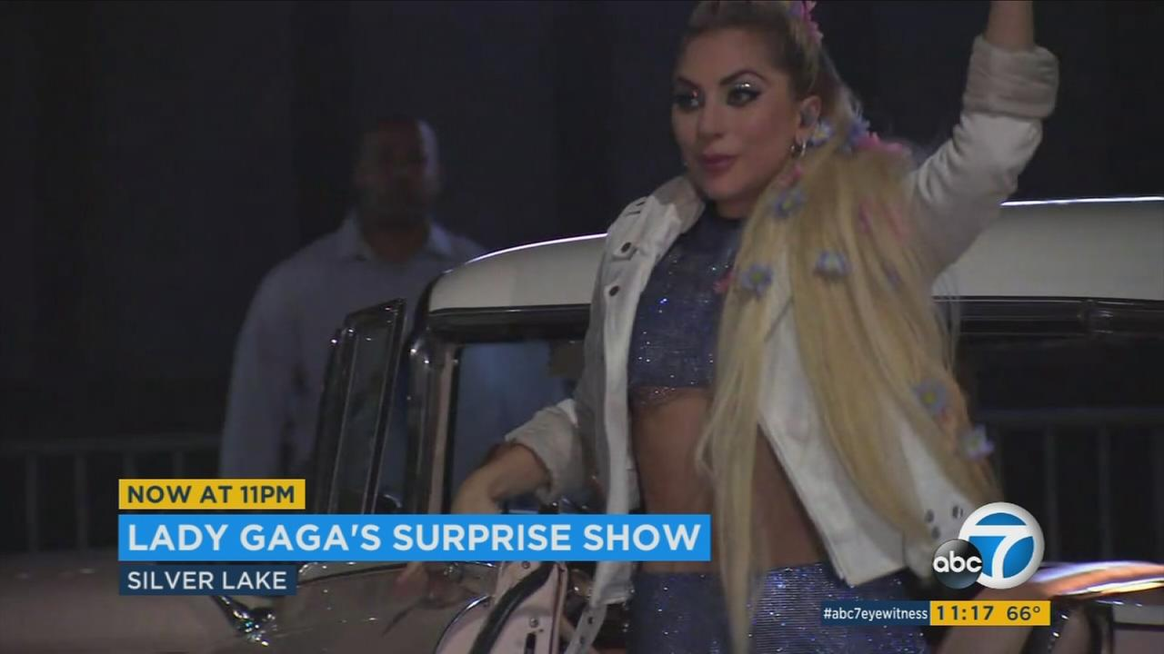 Lady Gaga put on a surprise show at The Satellite in Silver Lake to wrap up her Dive Bar Tour.