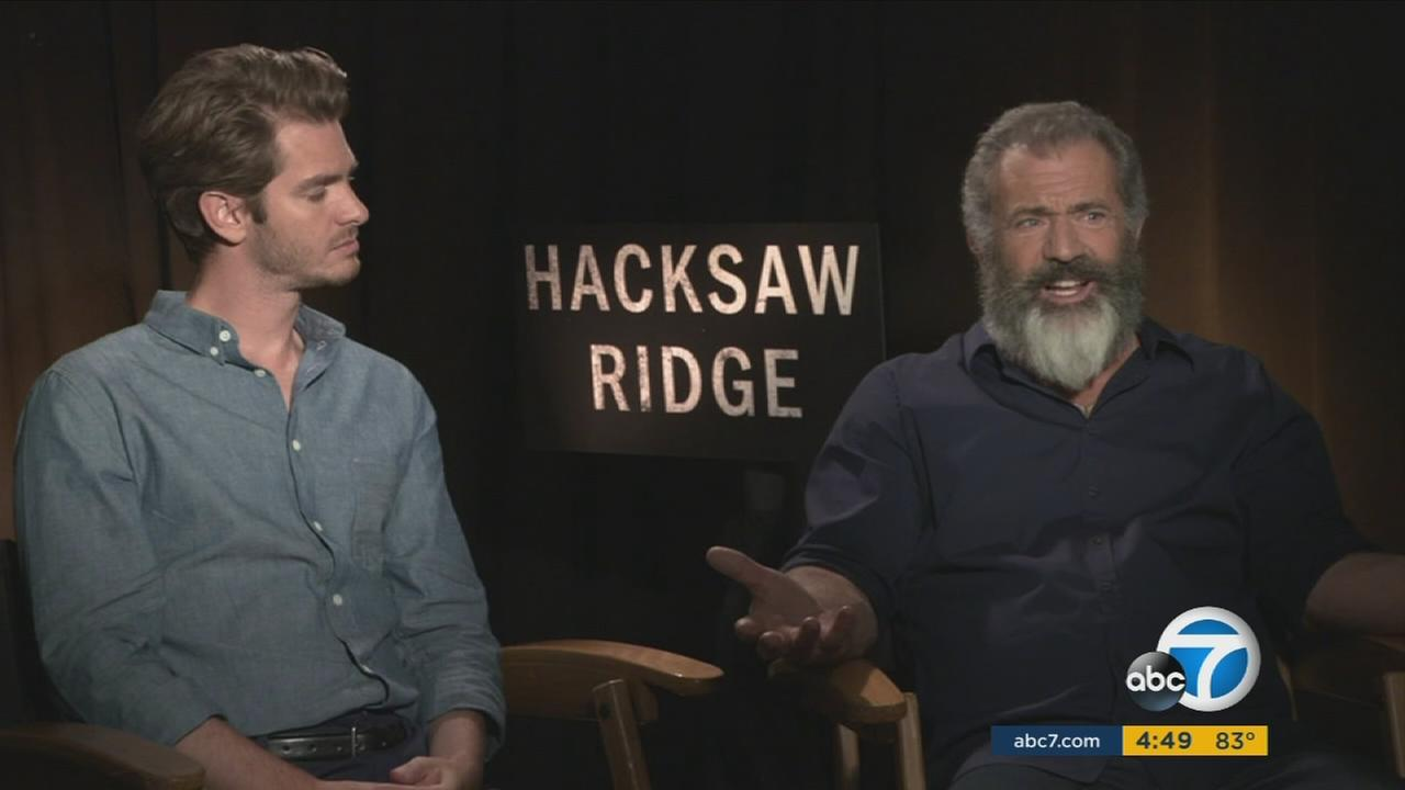 Andrew Garfield plays a conscientious objector who goes to war in Mel Gibsons Hacksaw Ridge.