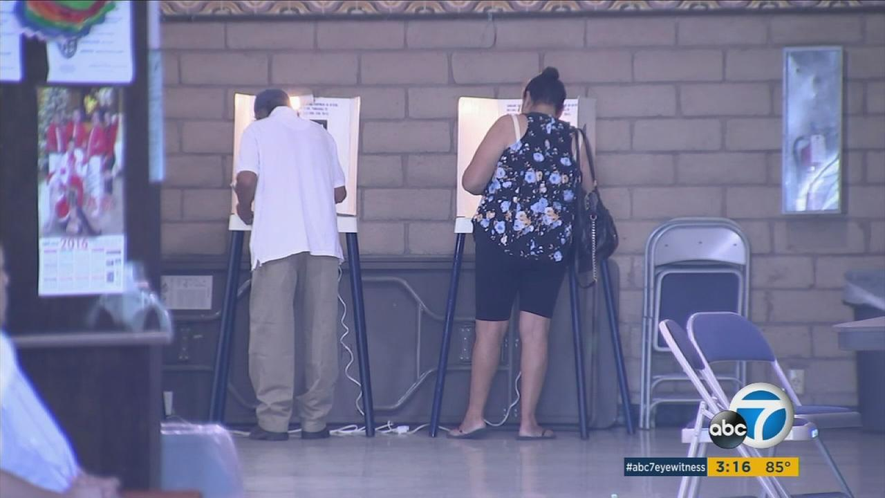 Issues were reported at some polling sites in Los Angeles County on Tuesday, Nov. 8, 2016.