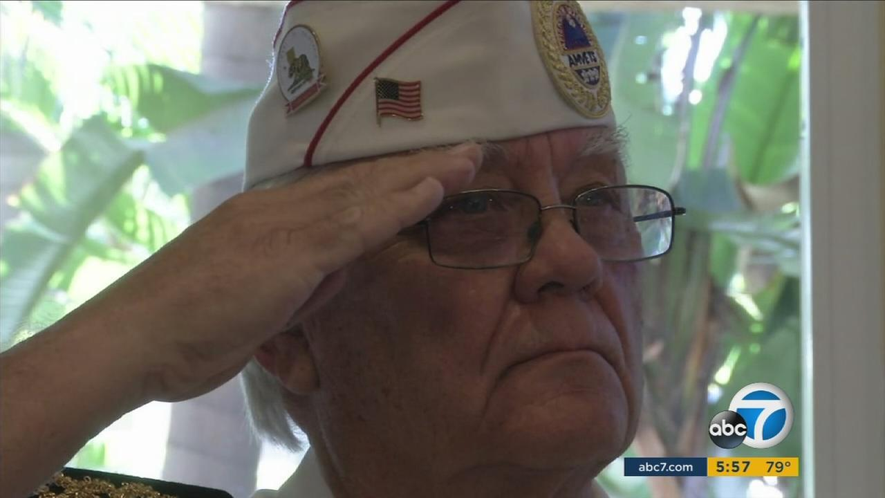 Seventy veterans were treated to a Veterans Fay celebration within their home at the Villa Valencia senior living facility in Laguna Hills.