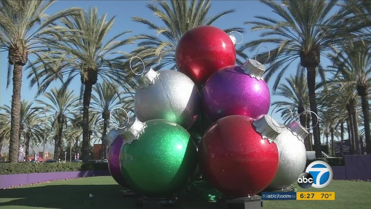 A holiday display designed and decorated by Orange County company Dekra-Lite.