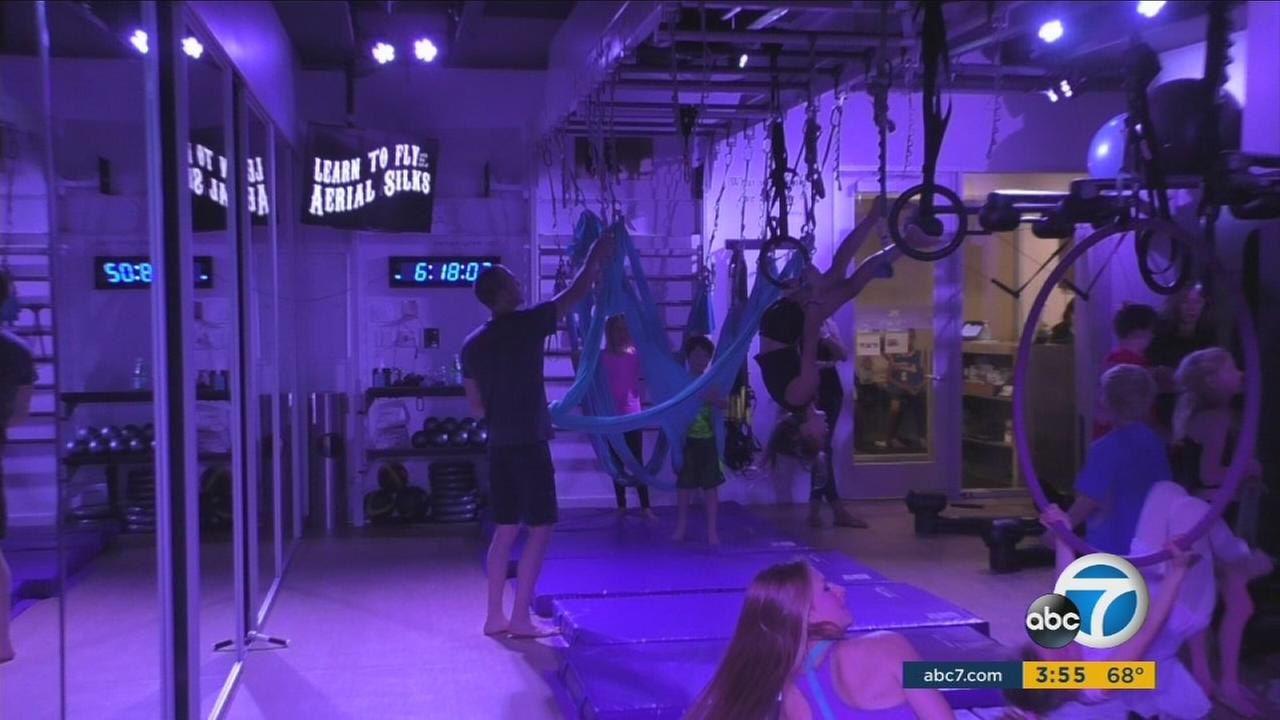 Studio K specializes in aerial workouts to help increase fitness levels in children.