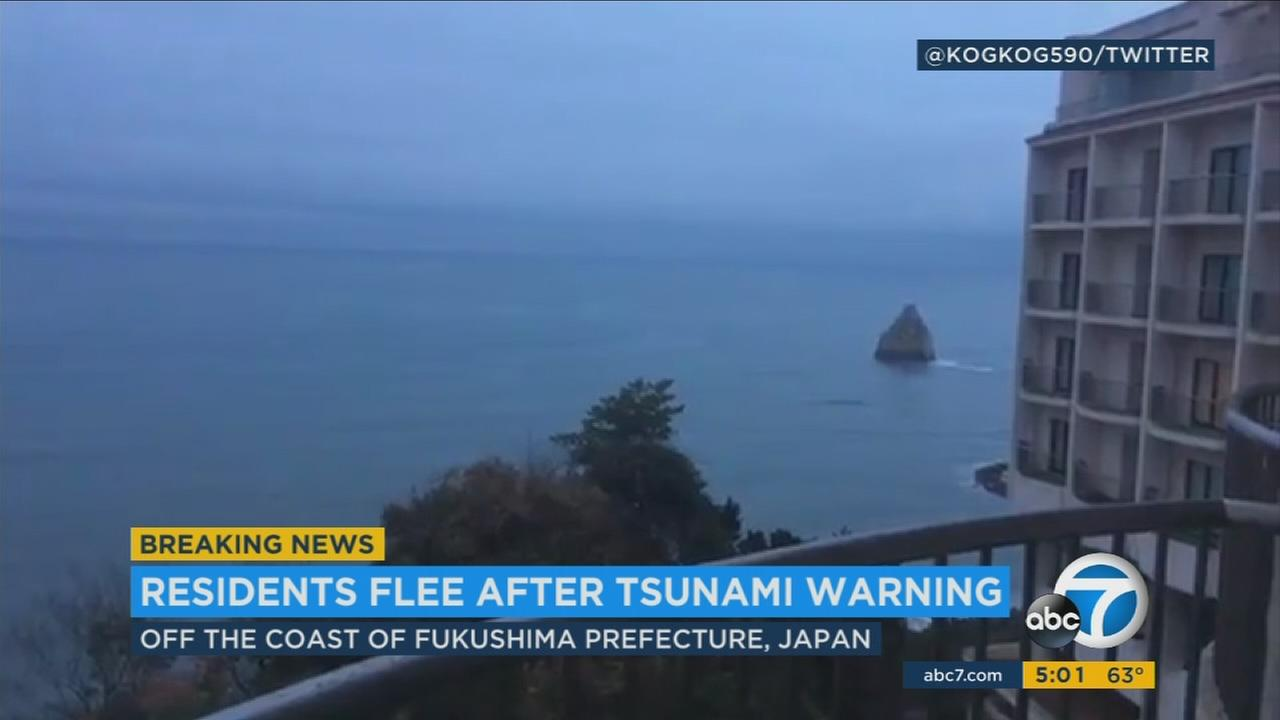 A 6.9-magnitude earthquake struck off the coast of Japan, triggering warnings for tsunamis on Monday, Nov. 21, 2016.