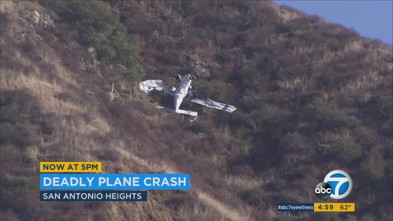 A man was killed when the small plane he was piloting crashed in the San Antonio Heights area on Tuesday, Nov. 22, 2016.