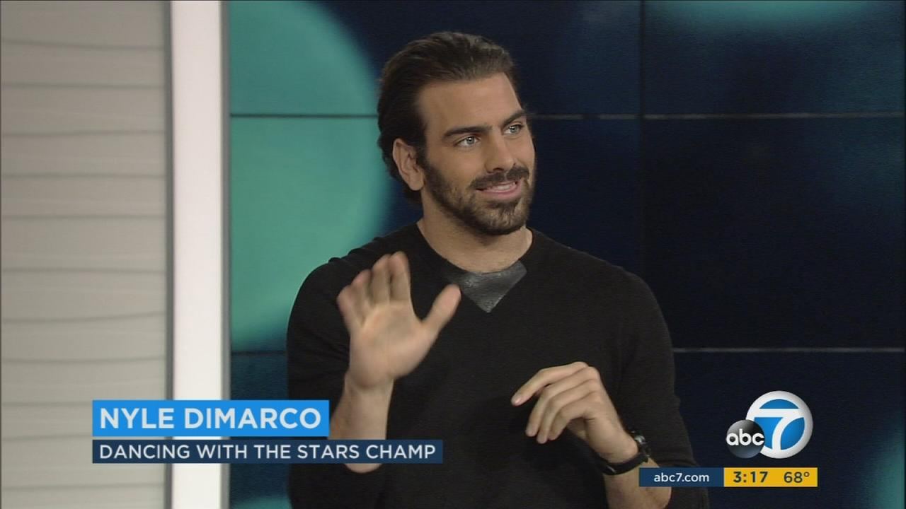 Actor and deaf activist Nyle DiMarco talked about his eponymous foundation in an interview with ABC7s George Pennacchio.