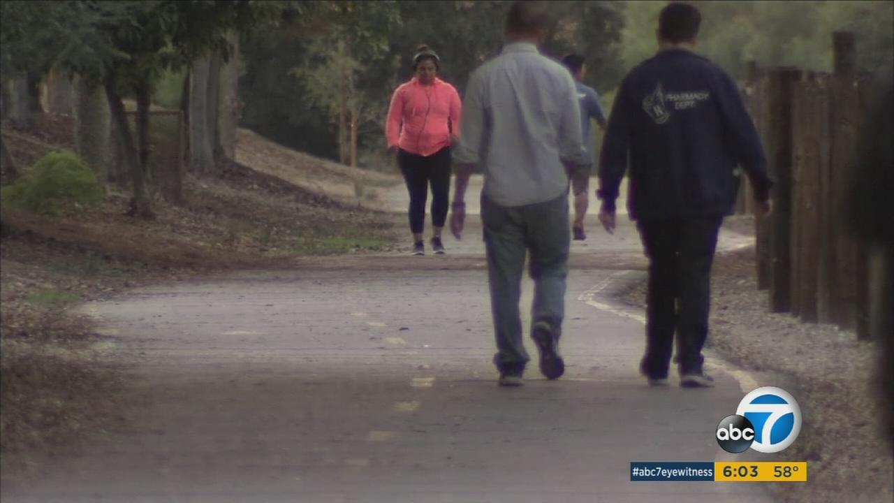 A woman was assaulted while running on a popular trail in Duarte and authorities are now searching for her attacker.