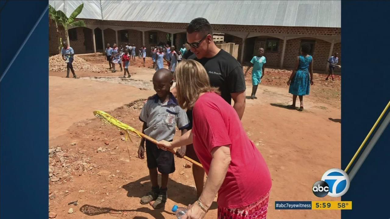 Anaheim Police Department Investigator Rudy Valdez is seen during a recent trip to Uganda.