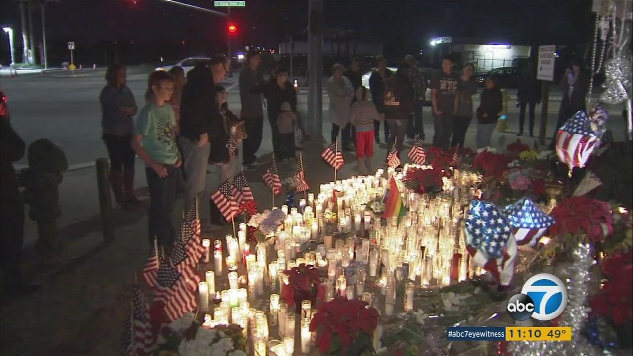 Vigils were held on Friday, Dec. 2, 2016 to remember the victims of the San Bernardino terror attacks one year ago.