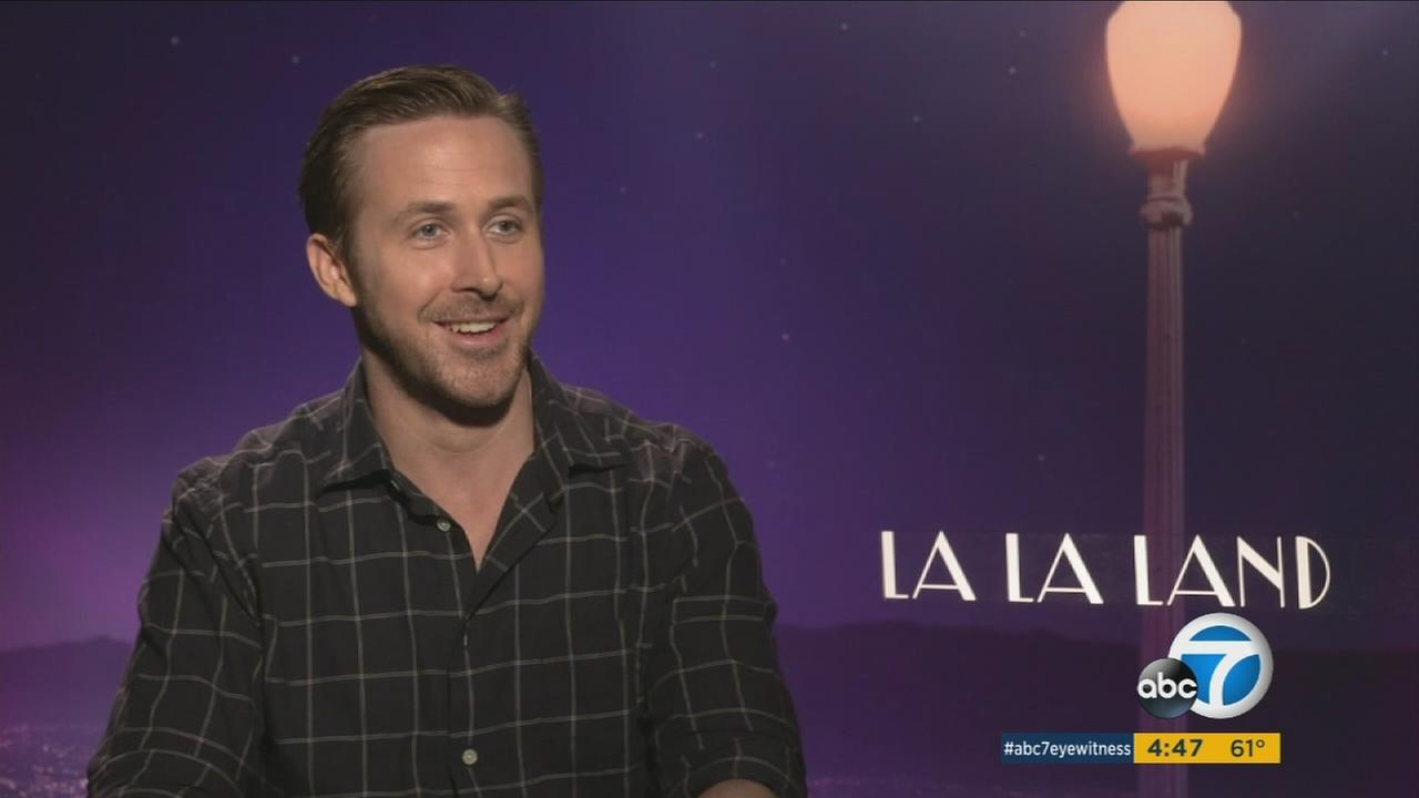 Ryan Gosling sings, dances and plays the piano in the new romantic musical La La Land.