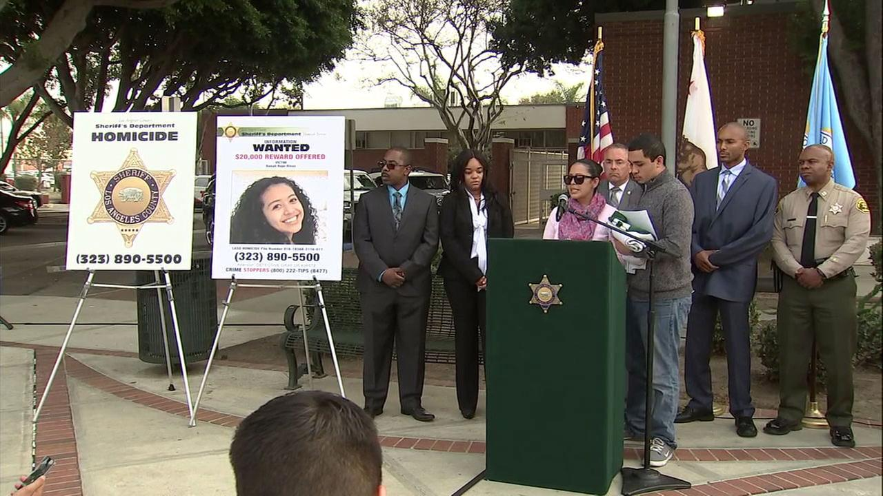 Family members of 16-year-old Danah Rojo Rivas spoke at a news conference in Lynwood on Wednesday, Dec. 7, 2016.