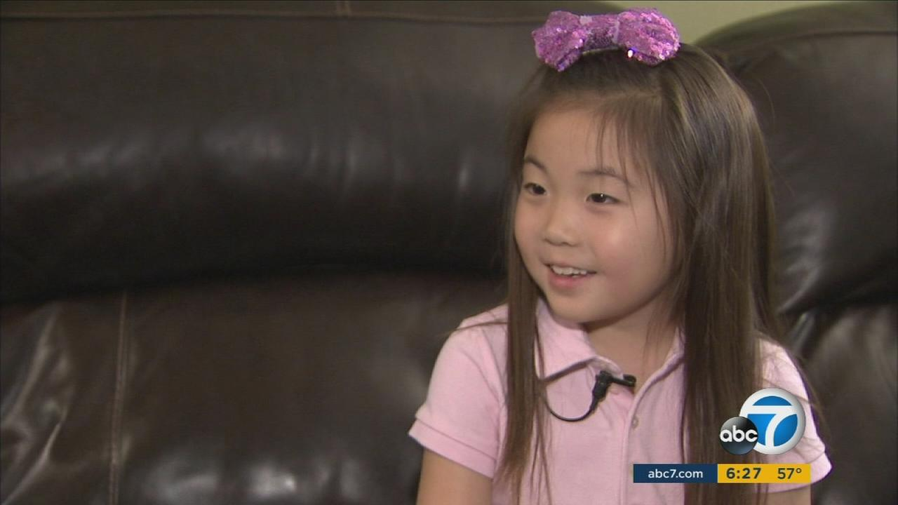 Audrey Kim, 6, of Irvine, wrote to President Obama about the environment and was so surprised he wrote back that she was inspired to raise funds to help marine life.