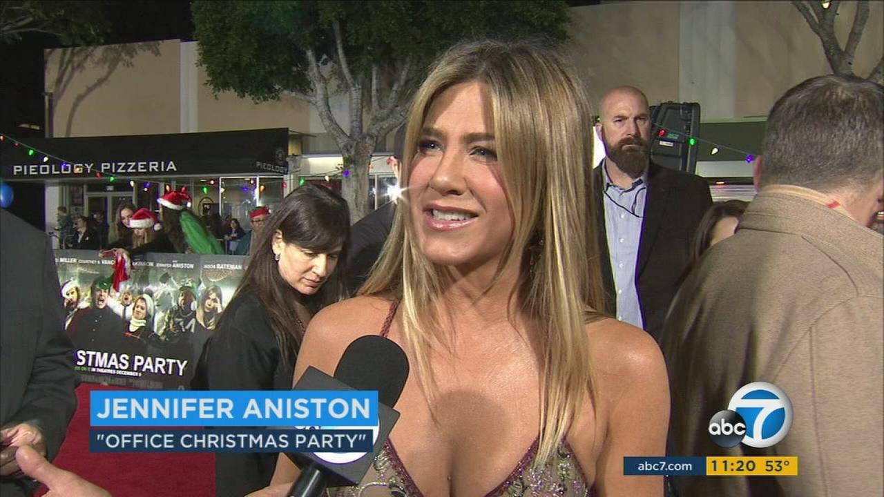 Jennifer Aniston stars in the new comedy Office Christmas Party.