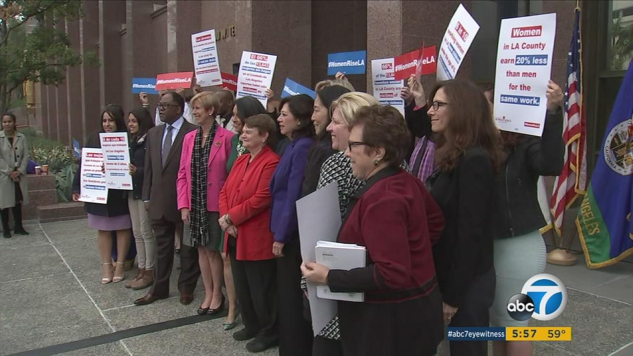 imageCaption With a historic female majority, the Los Angeles County Board of Supervisors is pushing for a new initiative to aid women living in poverty.  With a historic female majority, the Los Angeles County Board of Supervisors is pushing for a new