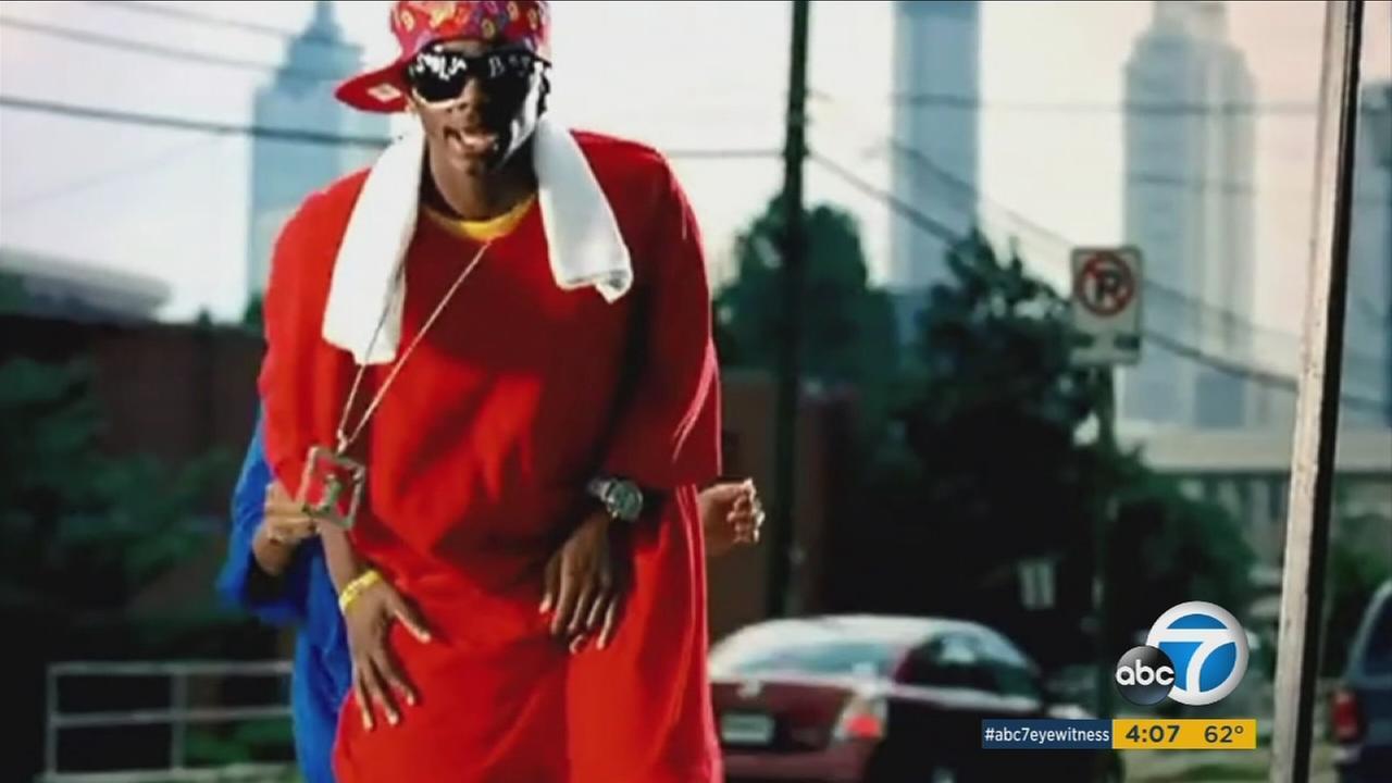 Rapper Soulja Boy seen performing in a music video.