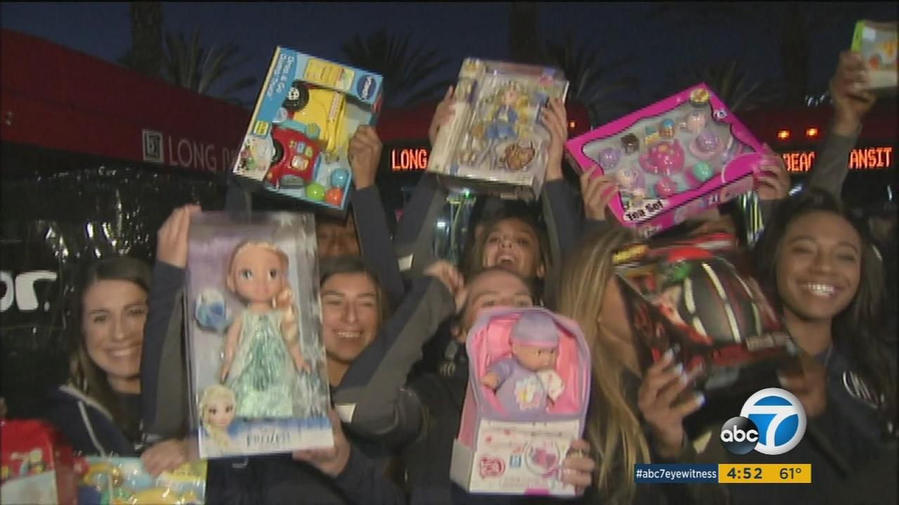 Hundreds of kids received toys in Ontario thanks to the Spark of Love toy drive.