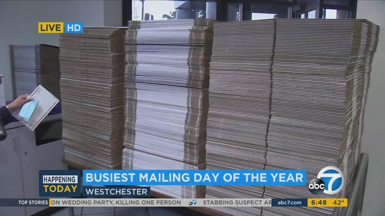 The United State Postal Service prepared on Monday to handle large volumes of shipments for the busiest mailing day of the year.