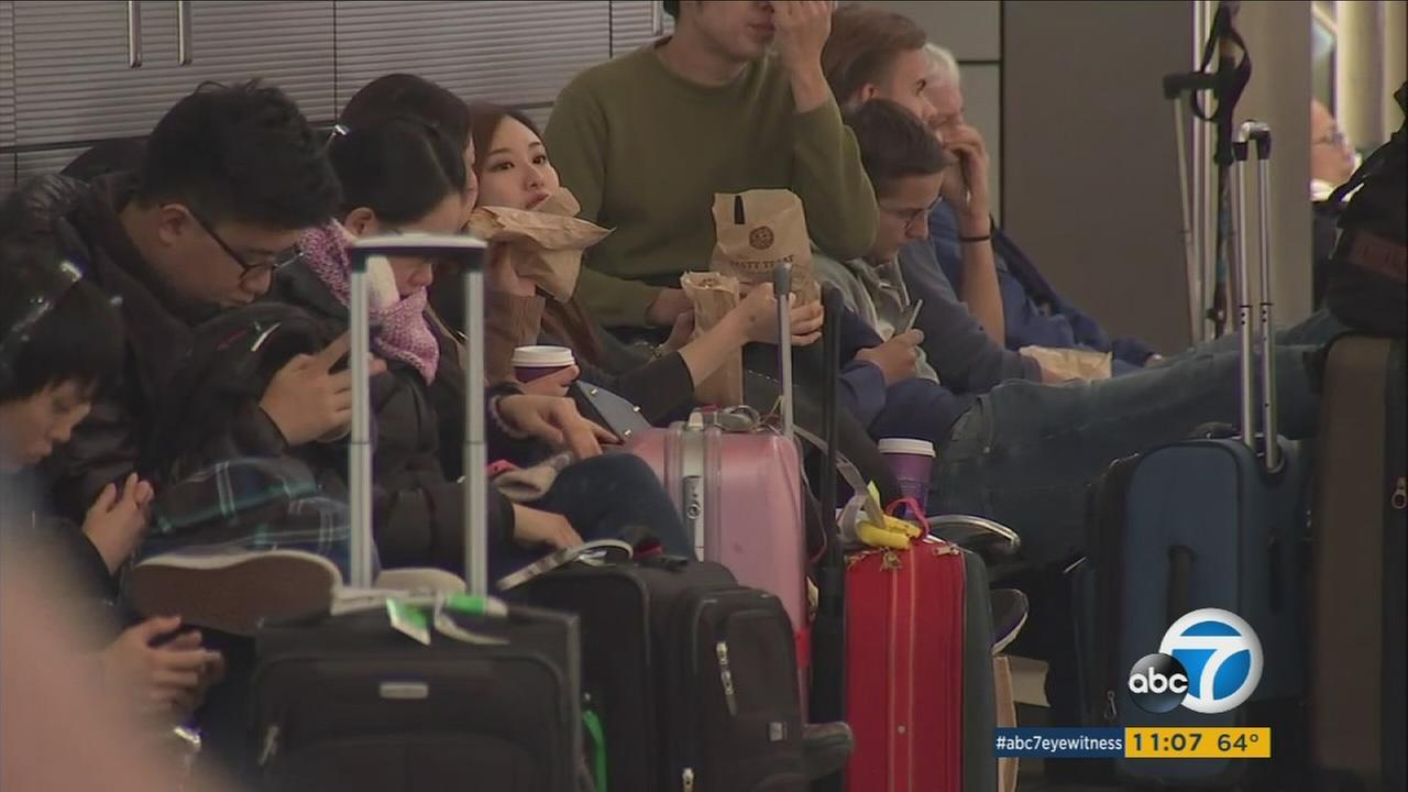 Expecting a nearly 10 percent increase in holiday travel through LAX, police presence at the airport increased.