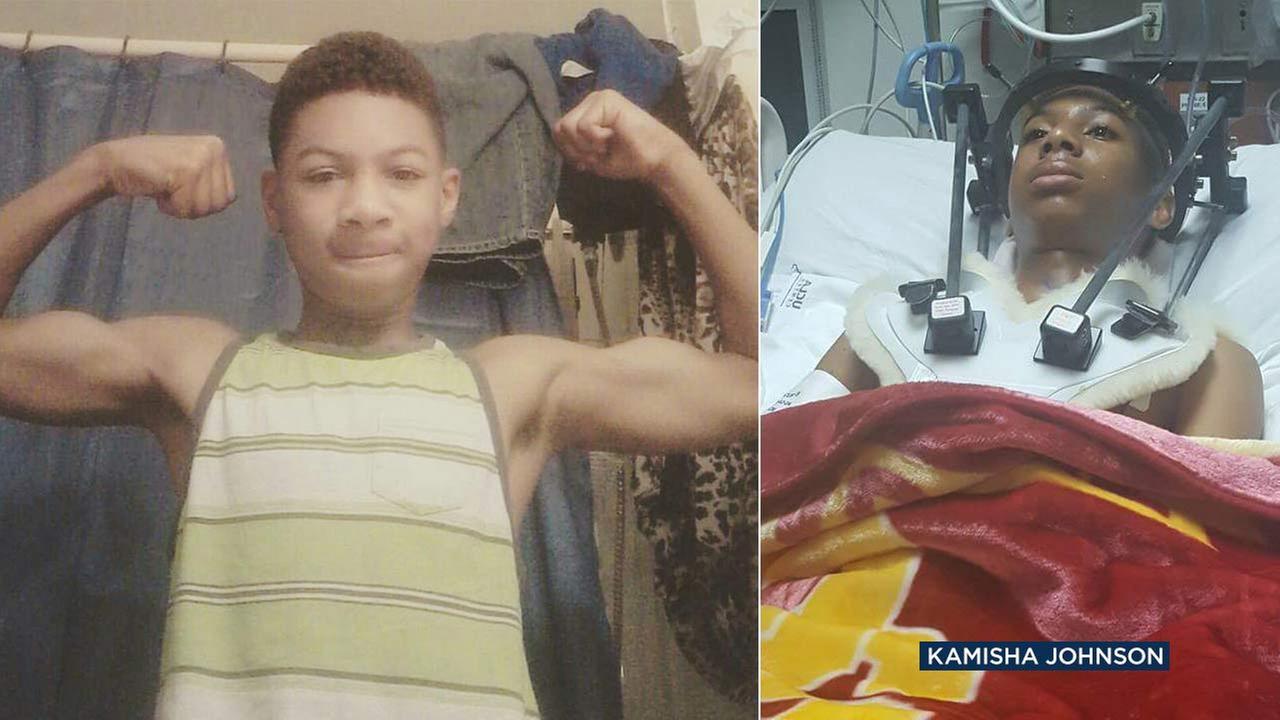 Elijah, 13, is seen in undated photos.
