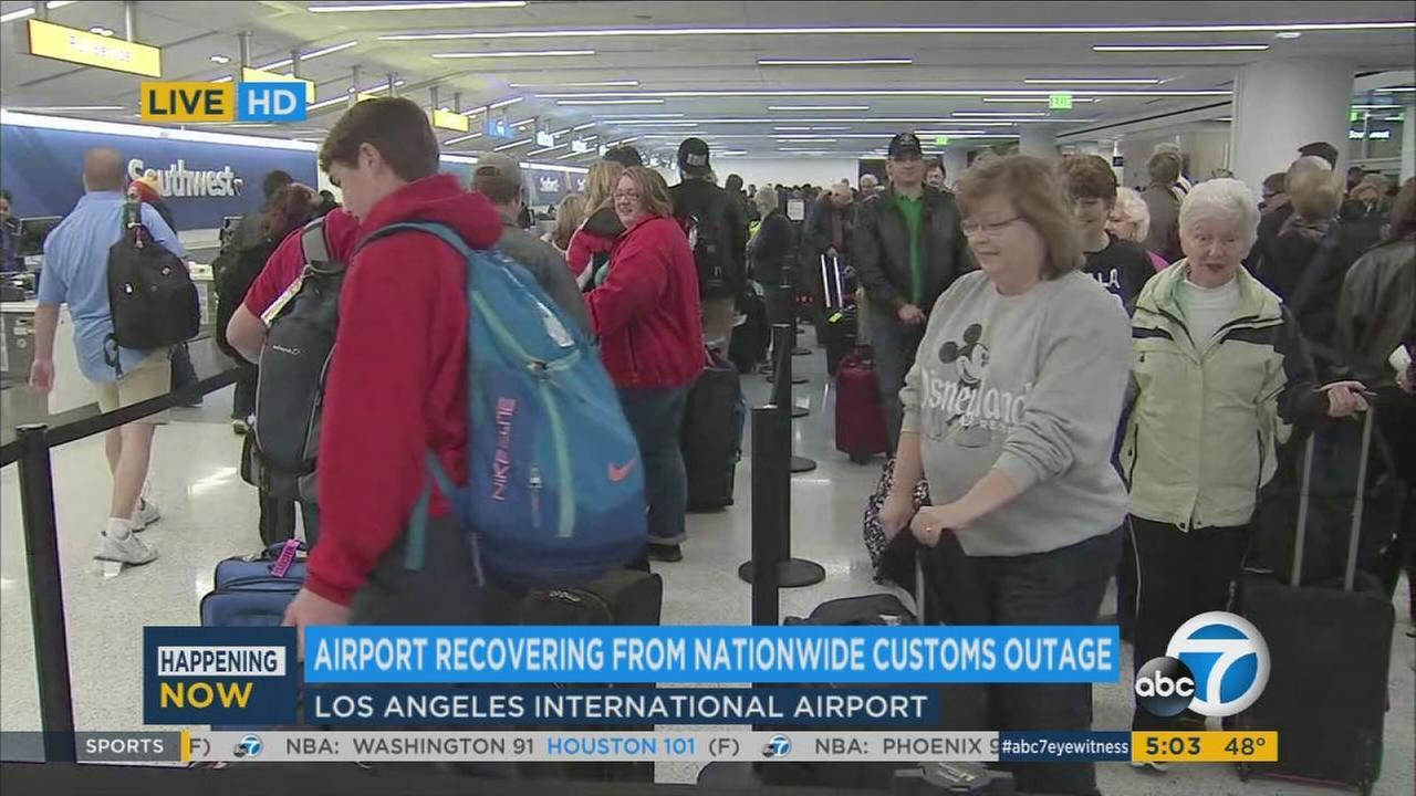 Long lines take over Los Angeles International Airport on the last day of the holiday travel rush Tuesday, Jan. 3, 2017.