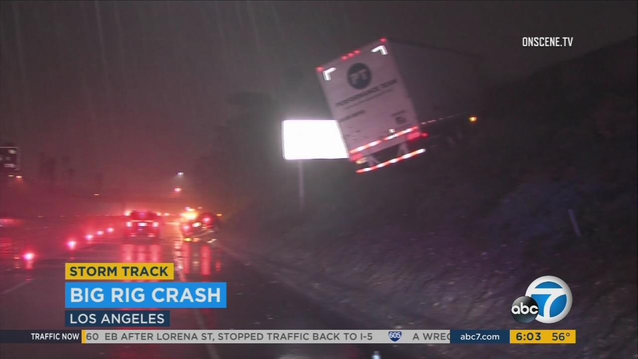 Scattered storms wreaked havoc on Southern California traffic on Thursday, Jan. 5, 2017.