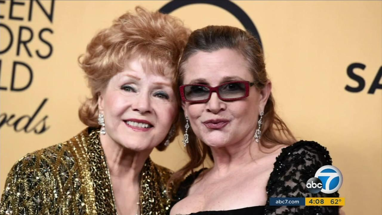 Friends and family paid tribute to Debbie Reynolds and Carrie Fisher in a private memorial service for the beloved mother and daughter actresses who died last week a day apart.