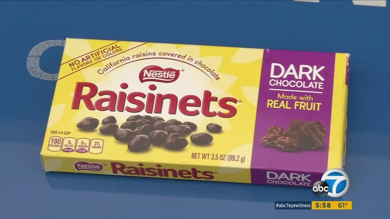 An undated file photo of Nestles Raisinets.