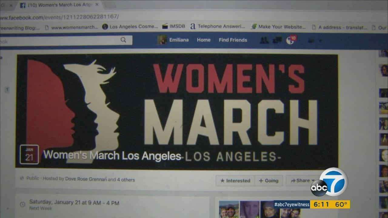 A Facebook page dedicated to the planned Womens March Los Angeles has received some 39,000 RSVPs.