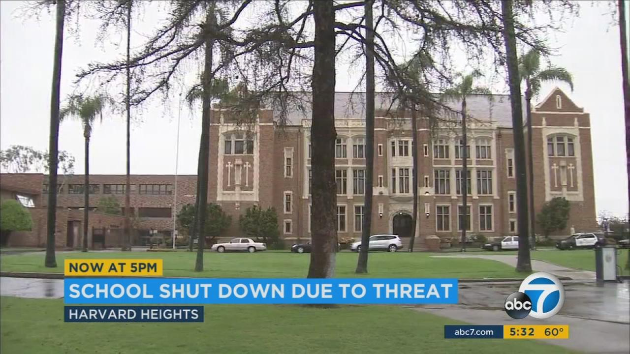 An anonymous threat prompted the cancellation of classes Wednesday at Loyola High School in Los Angeles but was later found to not be credible, authorities said.