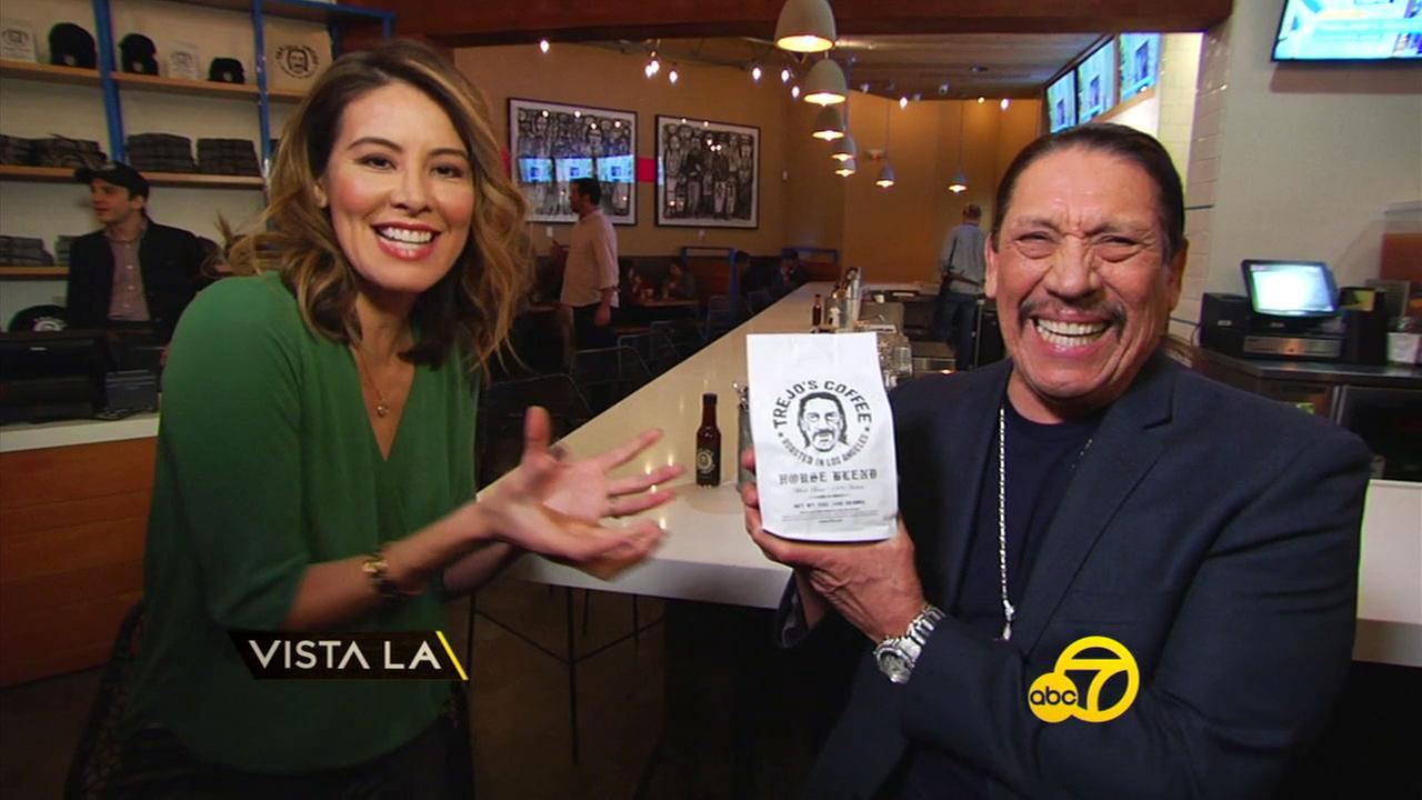 Danny Trejo and Vista L.A. host Patricia Lopez get excited to unveil his latest business venture into gourmet coffee and donuts.