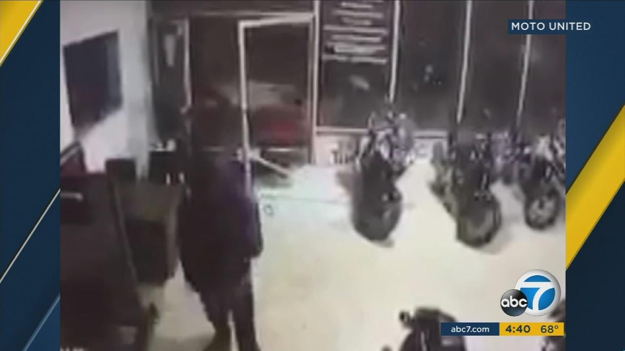 Authorities arrested three suspects who lead them on a chase from La Habra to Watts in a U-Haul carrying stolen dirt bikes on Tuesday, Jan. 17, 2017.