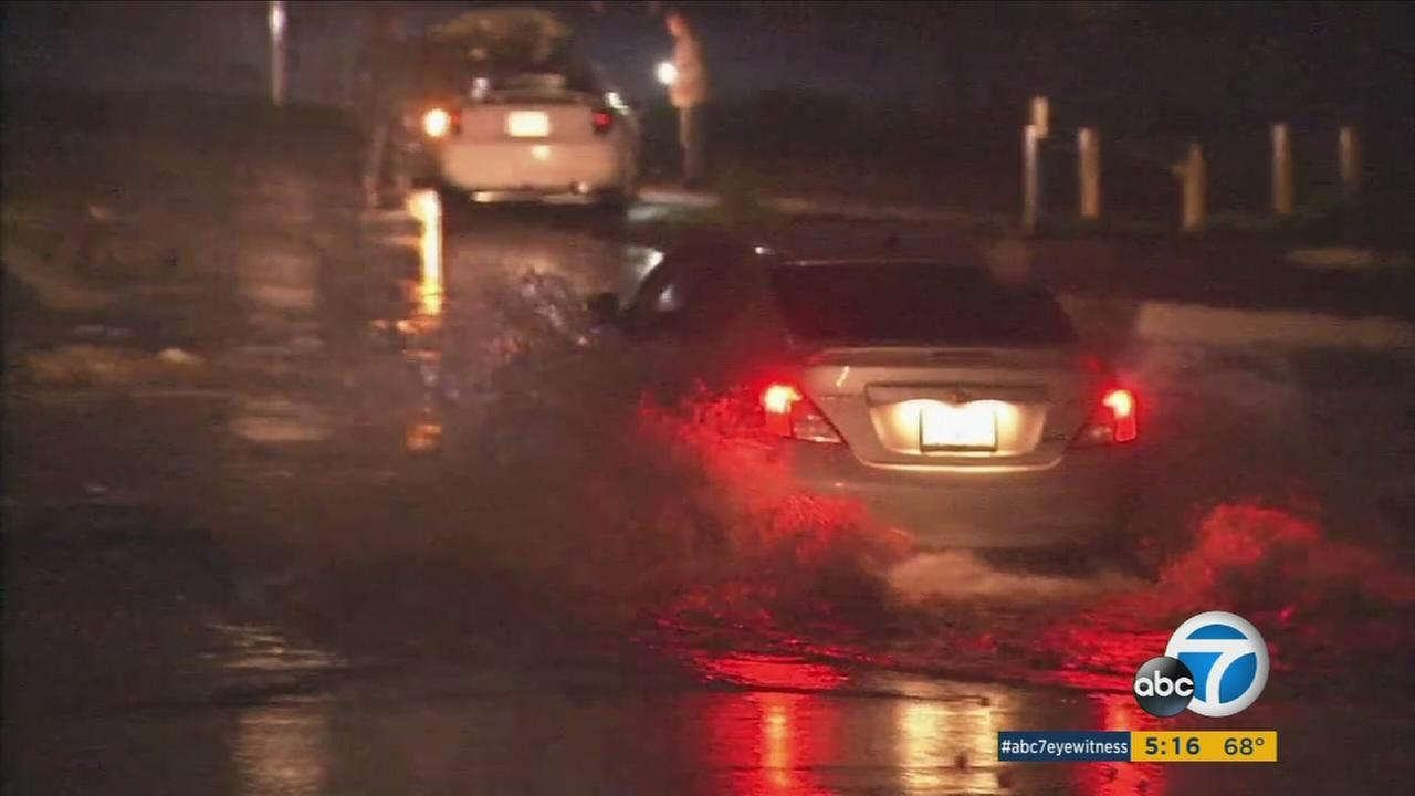 Three heavy storms are expected this week in Southern California, bringing with them potentially up to five inches of rain in some areas.