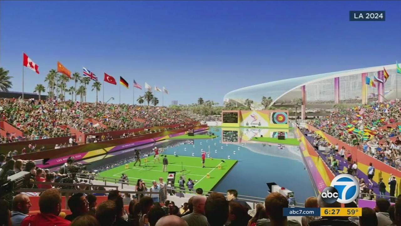 A rendering of one of the venues for a Summer Olympics in Los Angeles.