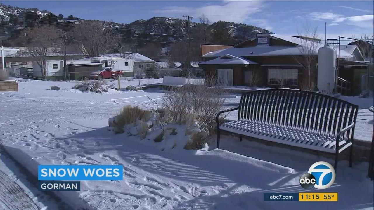 The trio of powerful storms that hit Southern California in recent days left a thick blanket of snow and ice on many mountain communities.