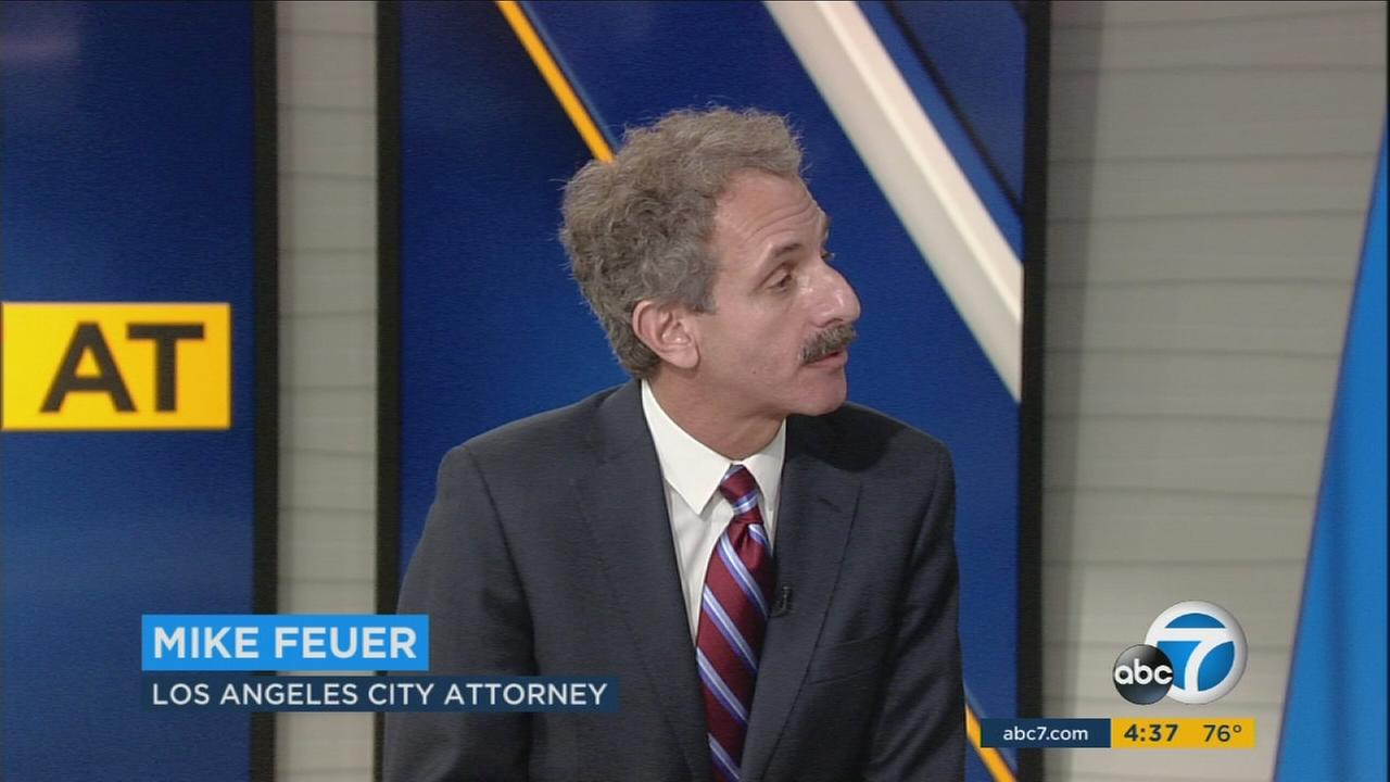 Los Angeles City Attorney Mike Feuer had stern words in direct opposition to President Donald Trumps recent travel ban on Sunday, Jan. 29, 2017.