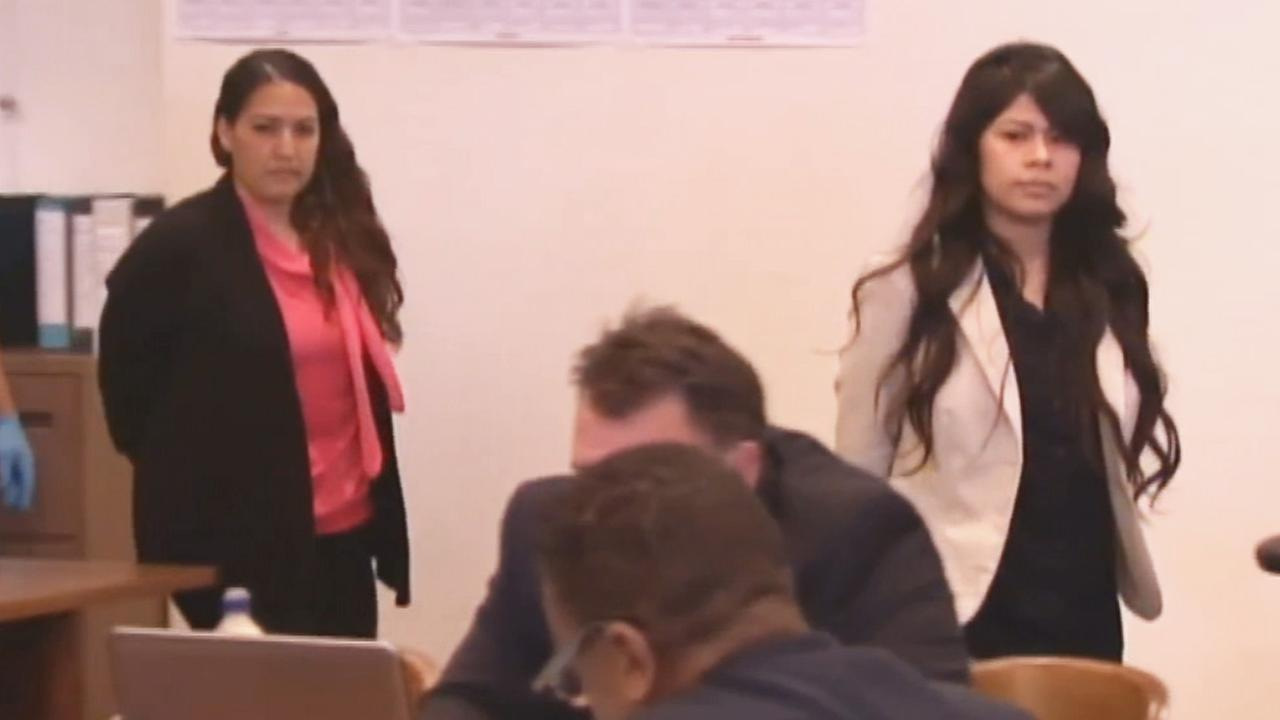 Candace Brito and Vanesa Zavala are seen in court in this undated file photo.