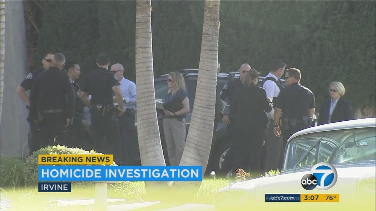 One man was arrested after two people were found dead after a shooting at an Irvine home, police said Tuesday.