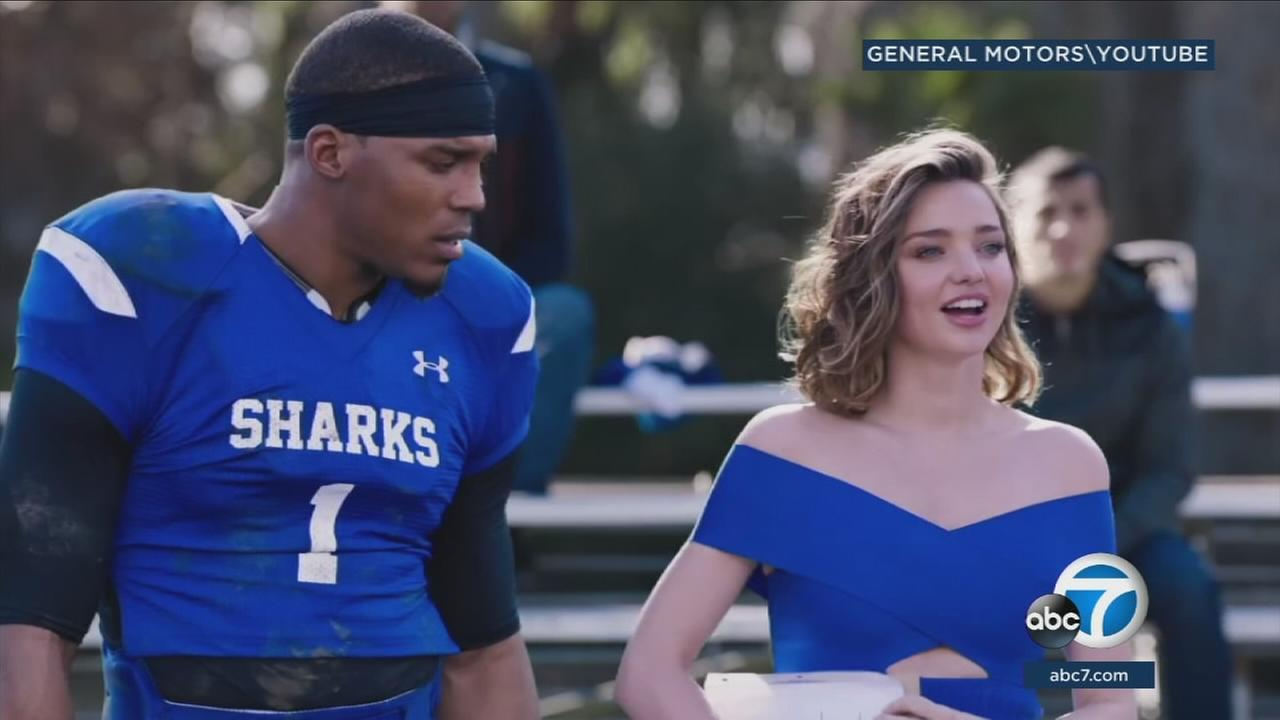 Model Miranda Kerr featured in a 2017 Super Bowl ad from General Motors.