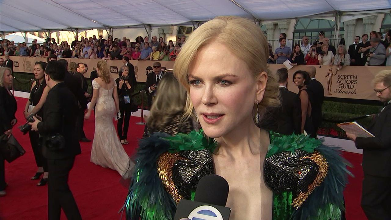 Actress Nicole Kidman talks about 2017 Oscar-nominated film Lion, up for best picture.