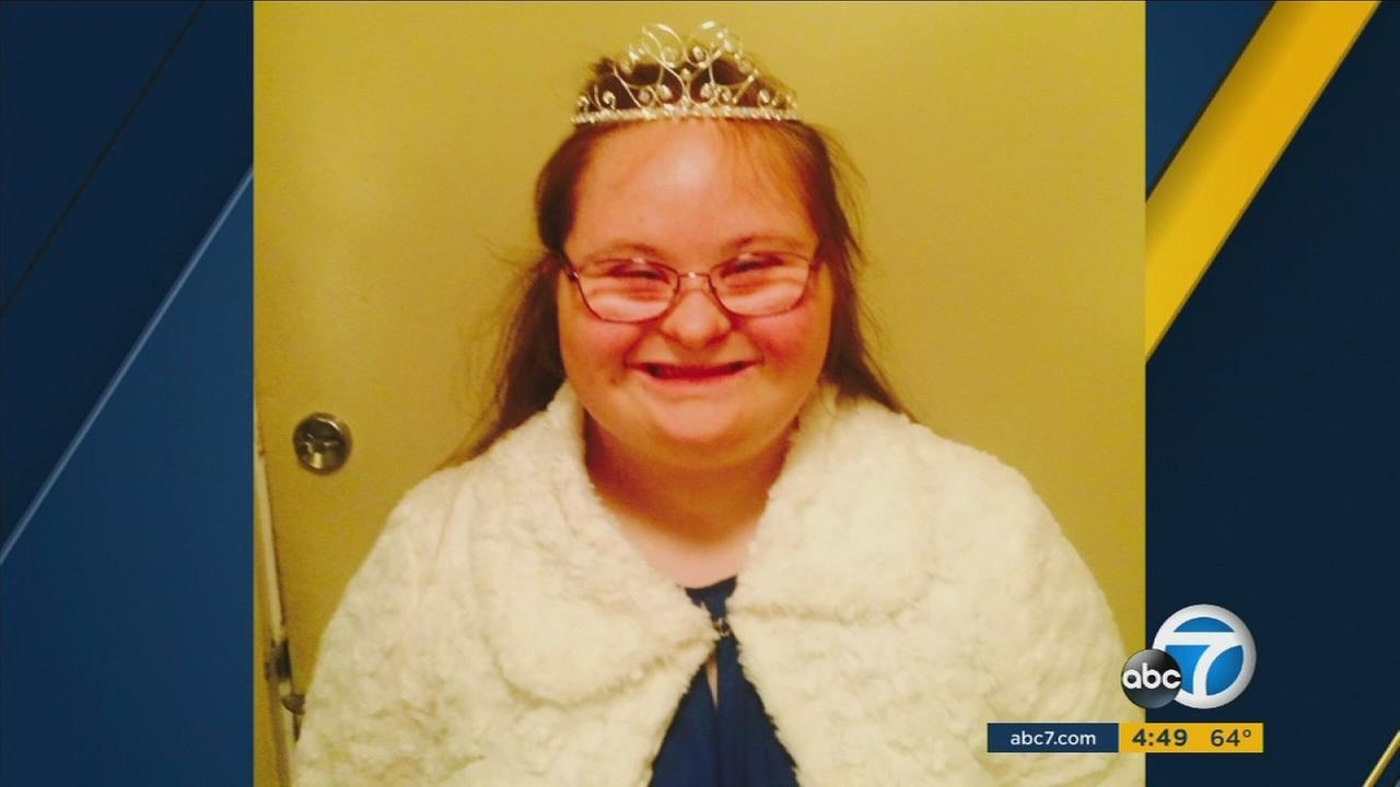 Northridge Academy 10th grader Nicolette Morrison has autism and Down syndrome - and a big heart and a big smile.