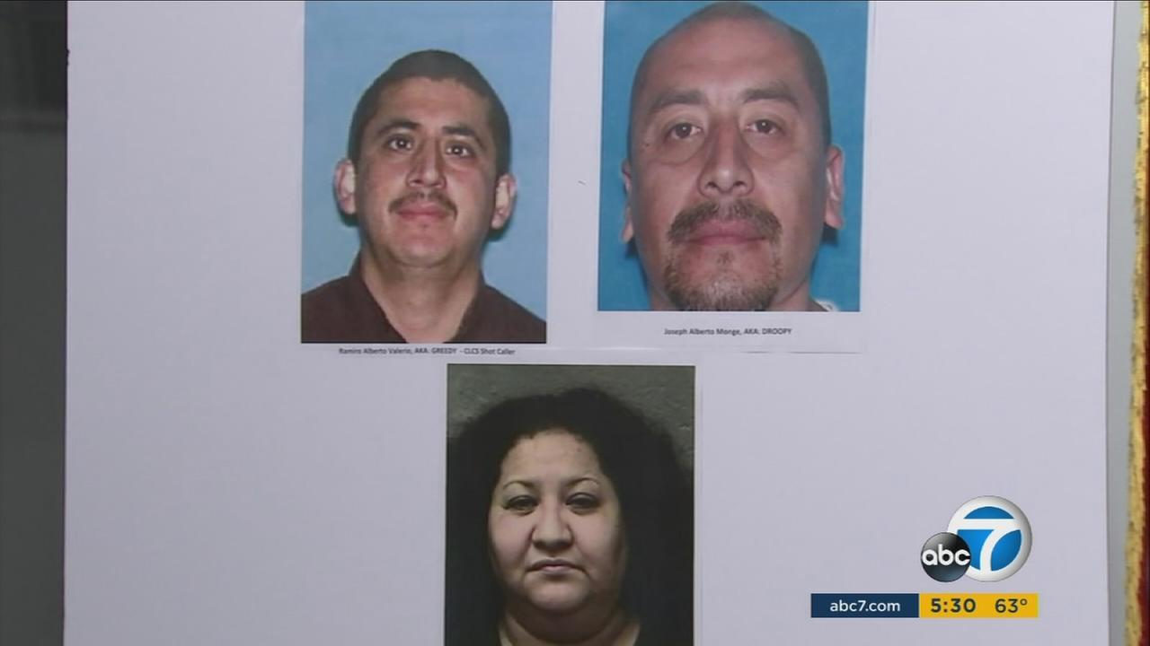 Three suspects are seen in booking photos after being arrested in connection with a 1993 arson fire at an apartment building in Westlake.