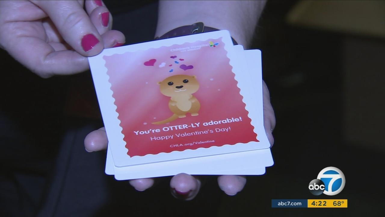 Some 50,000 Valentines Day cards like this one were delivered to patients at Childrens Hospital Los Angeles on Tuesday, Feb. 14, 2017.