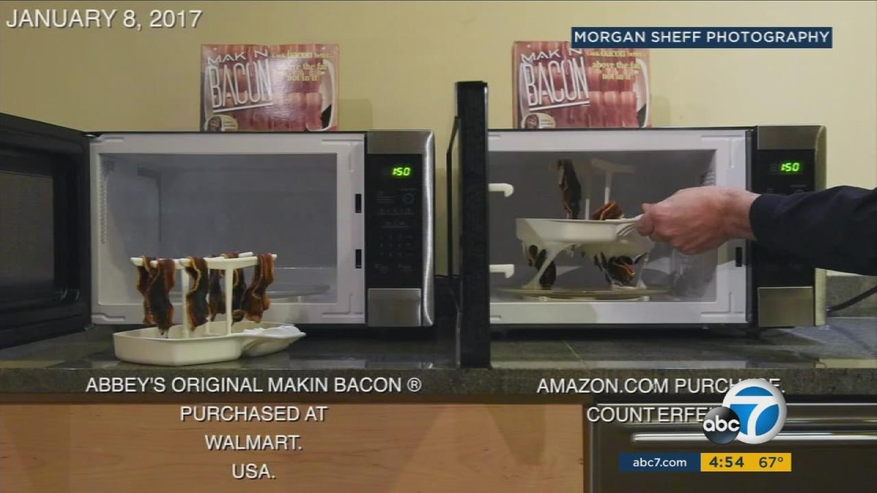 Counterfeit versions of the Makin Bacon product are made with less safe materials, according to the company that has made the product for 23 years.